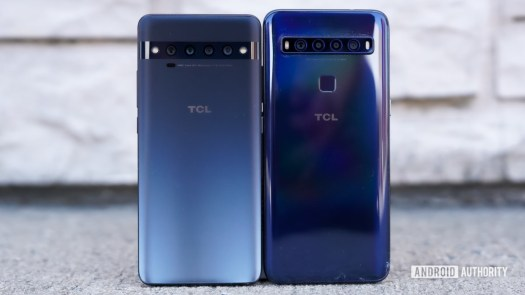 TCL 10 Pro and 10L standing together