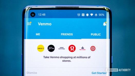 Venmo app on phone 2