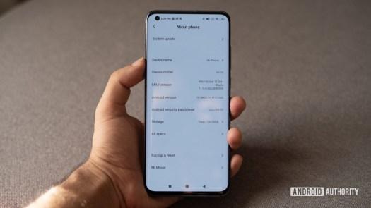 Xiaomi Mi 10 about screen
