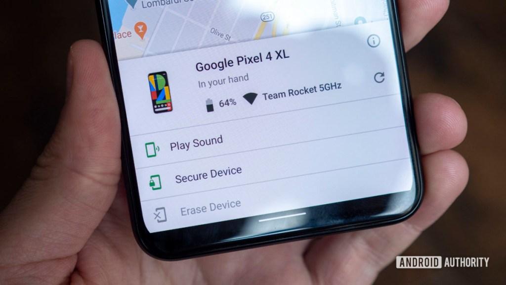 как найти потерянный телефон найти мое устройство google pixel 4 xl play звук стереть устройство
