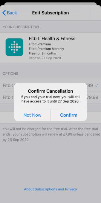 Отмена экрана iPhone