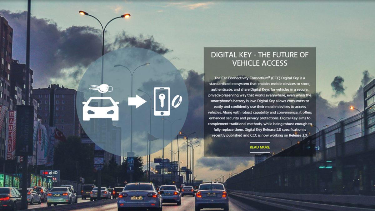 Автомобильный автомобильный консорциум цифровых ключей
