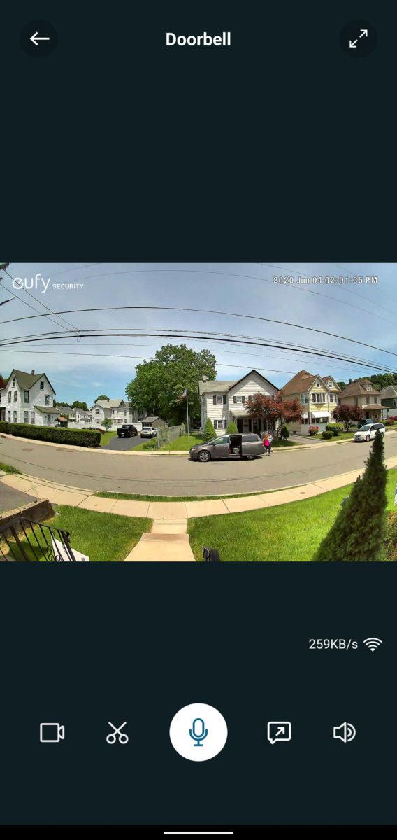 Eufy Video Doorbell живой вид