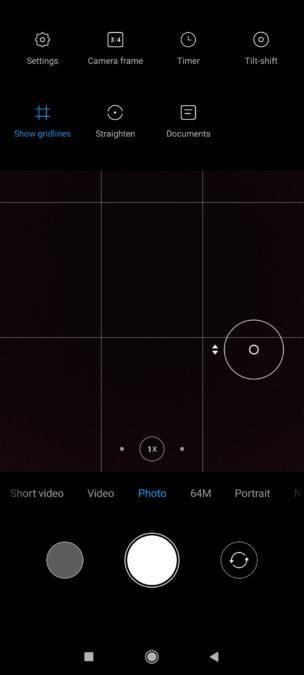 Приложение камеры Poco F2 Pro Режим фото с опциями