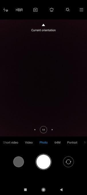 Poco F2 Pro главный экран приложения камеры