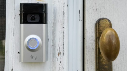 Ring Video Doorbell 3 Plus review closeup