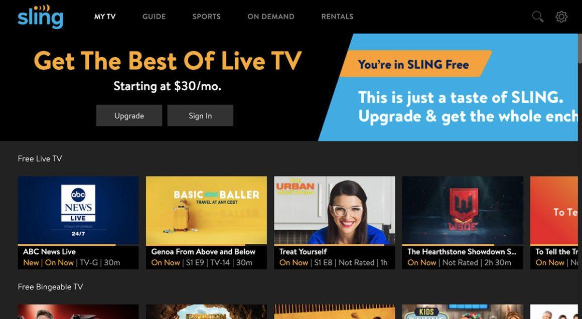 Бесплатная пробная версия Sling TV