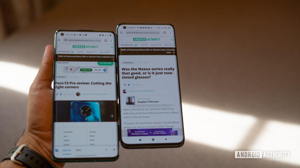 Xiaomi Mi 10 против OnePlus 8 Pro в руках