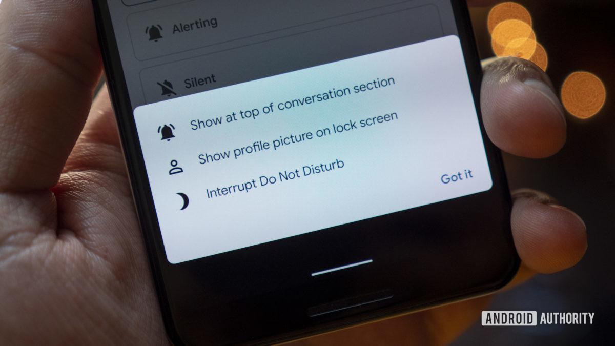 Android 11 приоритетных уведомлений детали пикселя 3