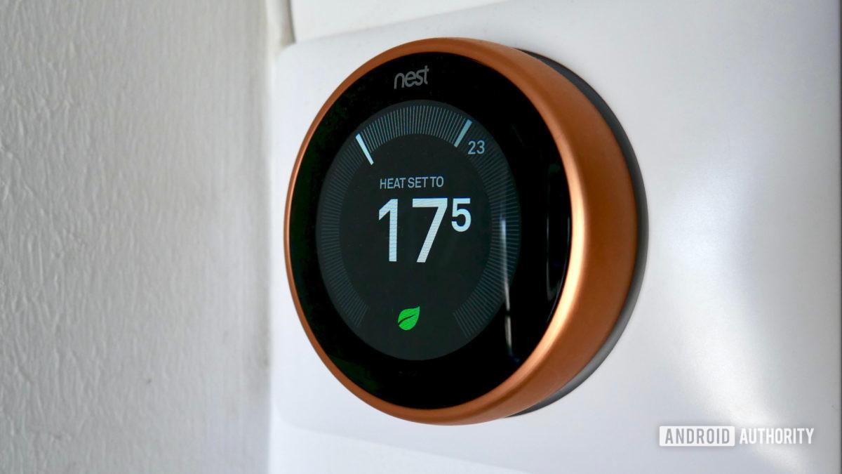 google гнездо обучения термостат 3-го поколения для умных домов