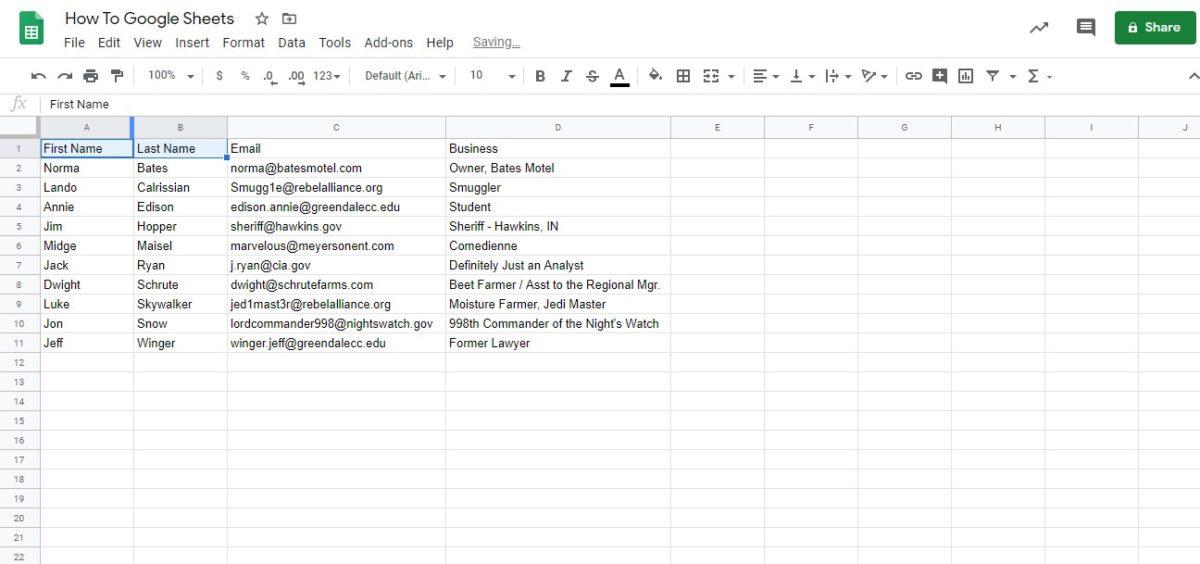 объединить ячейки Google таблицы 1