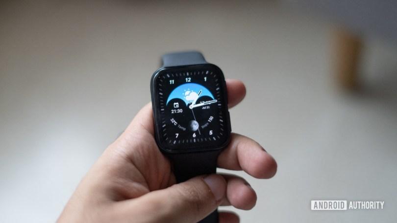 Oppo Watch in hand