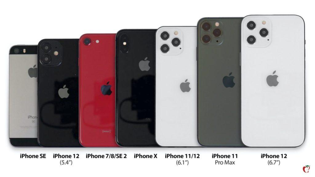 iphone 12 сравнил в натуральную величину