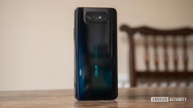 Asus Zenfone 7 Pro rear hero shot off angle
