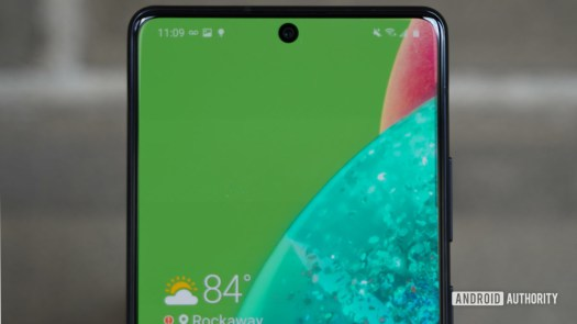 Samsung Galaxy A71 5G display closeup