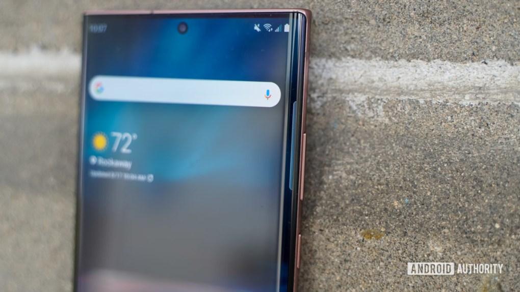 Samsung Galaxy Note 20 Ultra side profile