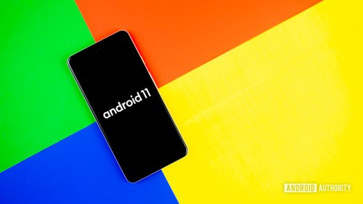 Android 11 stock photo with Google colors 3