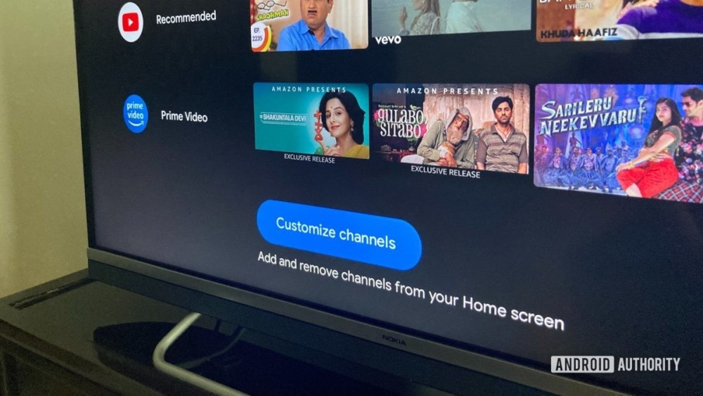 Android TV Channel Customization