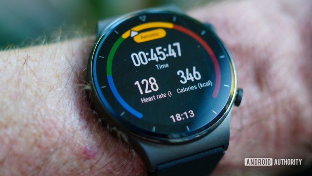 Huawei Watch GT 2 Pro workout heart rate 128
