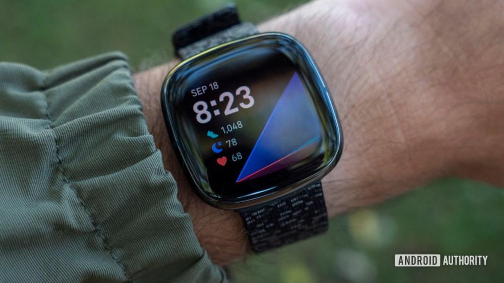 Wrist fitbit sense review design display display face