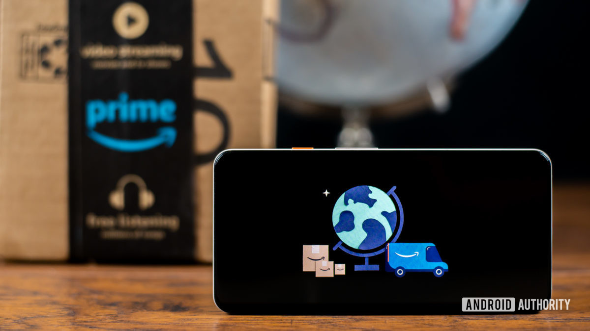 Amazon Prime Day image with box and globe