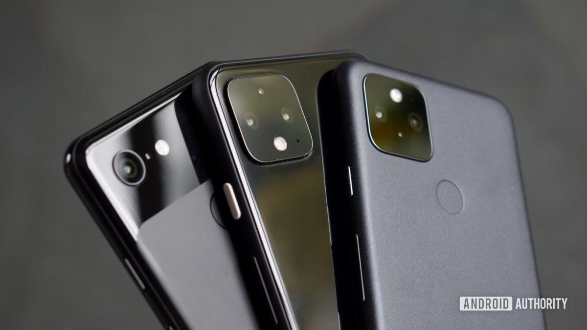 Câmeras Google Pixel 5 Pixel 4 Pixel 3