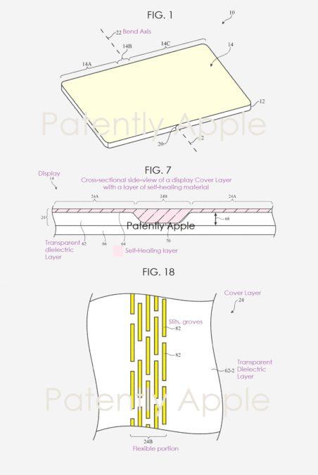 apple foldable self healing display patent 1