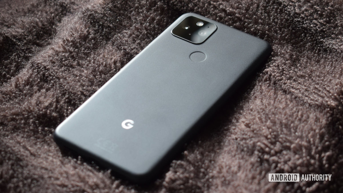 Google Pixel 5 Серая задняя крышка 3