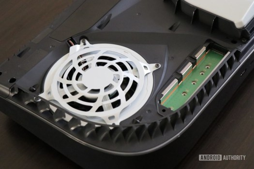 ps5 internals cooling fan and M.2 ssd slot