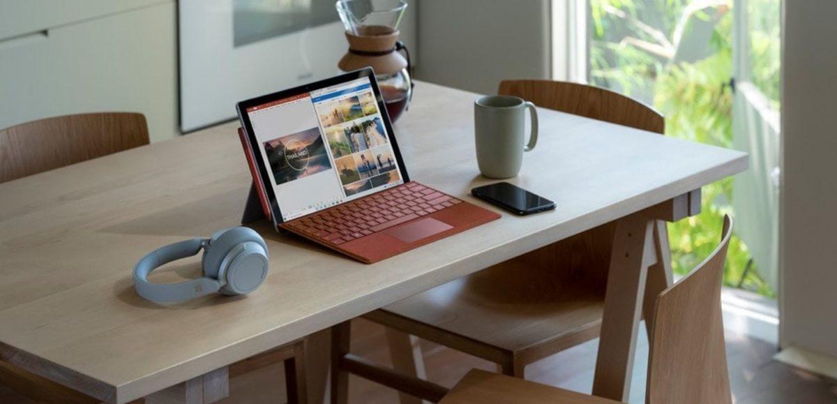 Foto promocional do Microsoft Surface Pro 7