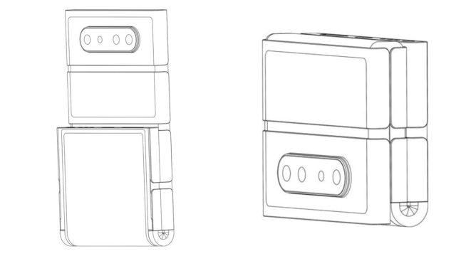 Патент на складные блочные телефоны Oppo