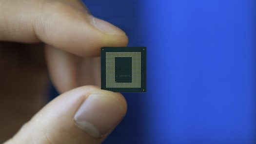 Qualcomm Snapdragon 888 chip in hand