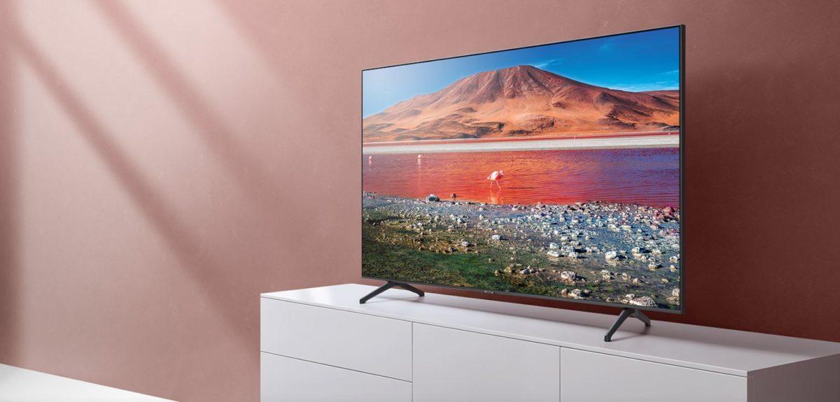 Промо-кадр Smart Tizen TV со светодиодной подсветкой 4K UHD серии 6, 70 дюймов, Samsung