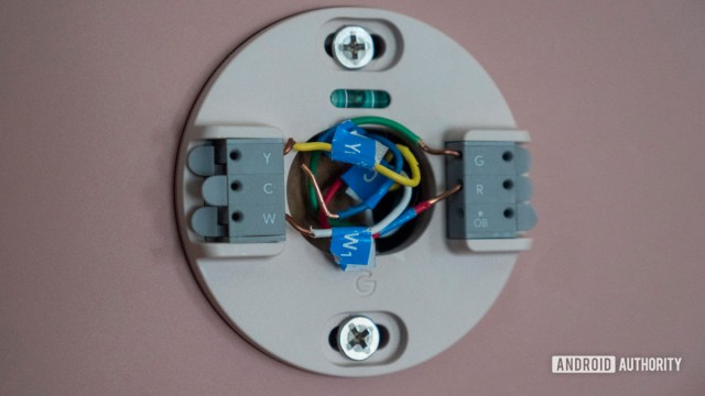 google nest thermostat review wires connectivity setup Y W G R common wire