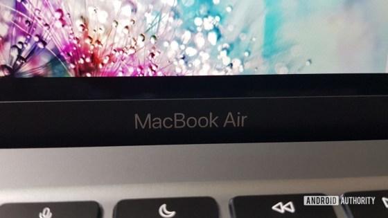 Apple MacBook M1 MBA text logo