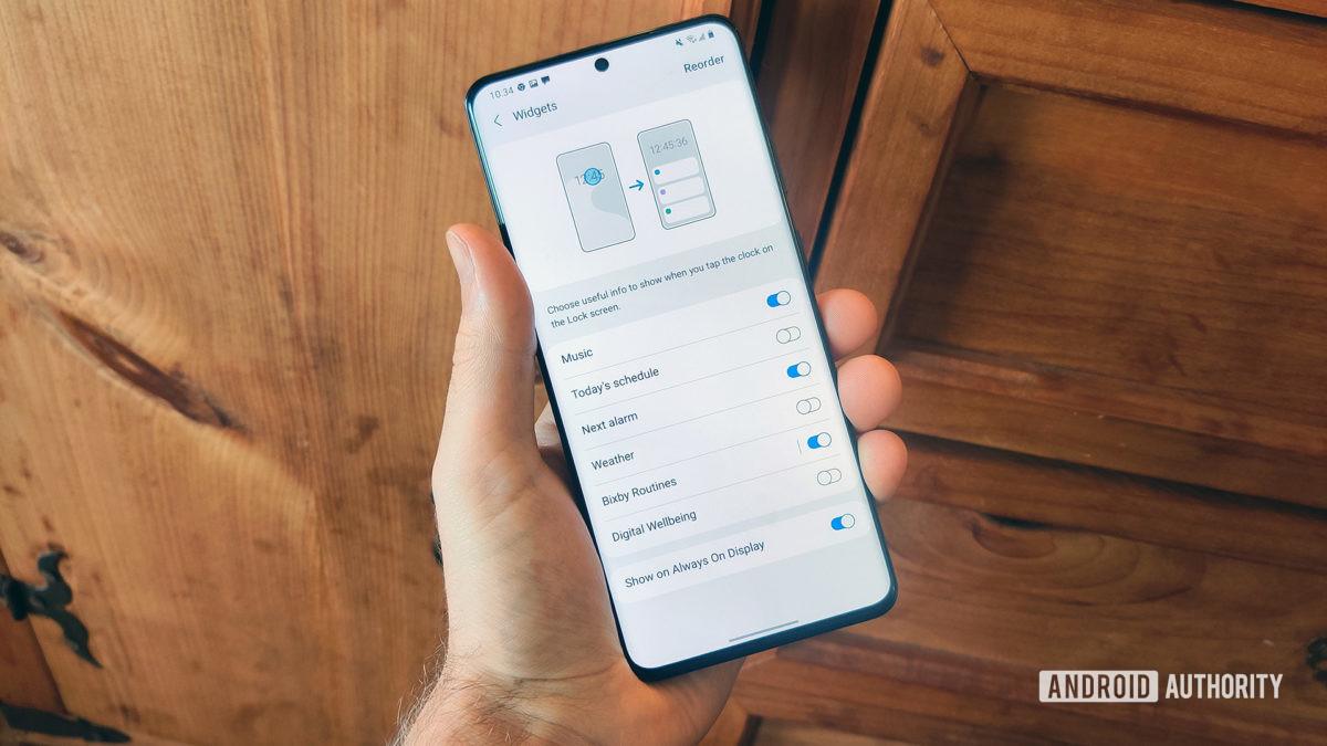 One UI 3.0 apresenta opções de AOD