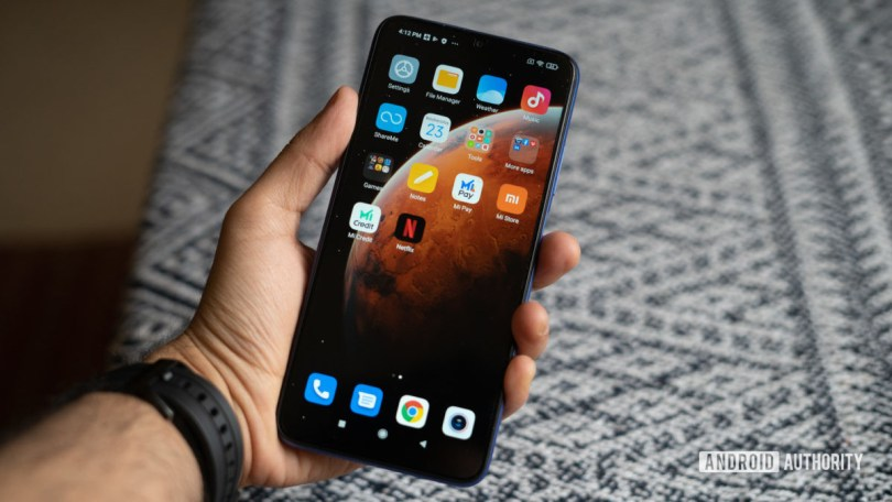 Redmi 9 Power in hand display