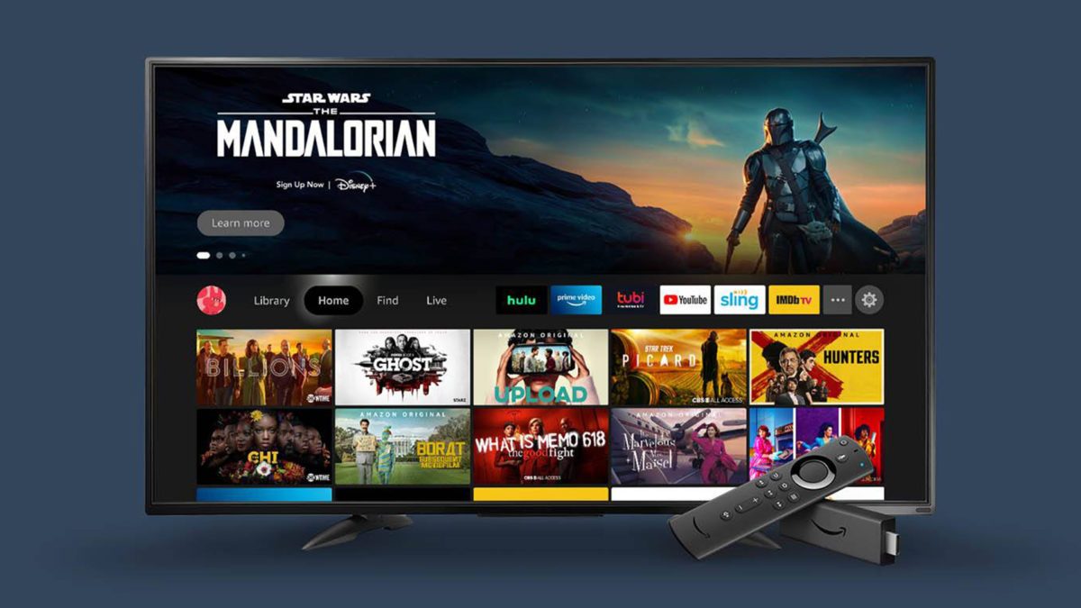 redesenho da interface da amazon fire tv 2020