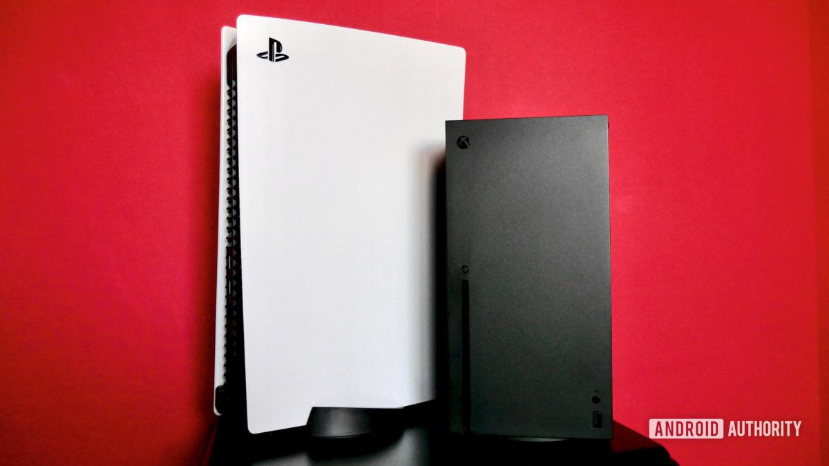 PS5 против серии xbox x спереди