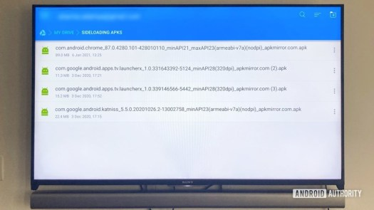 APK files On Google Drive For Sideloading Apps on Android TV