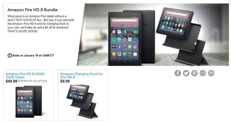 Amazon Fire HD 8 Bundle Woot Deal