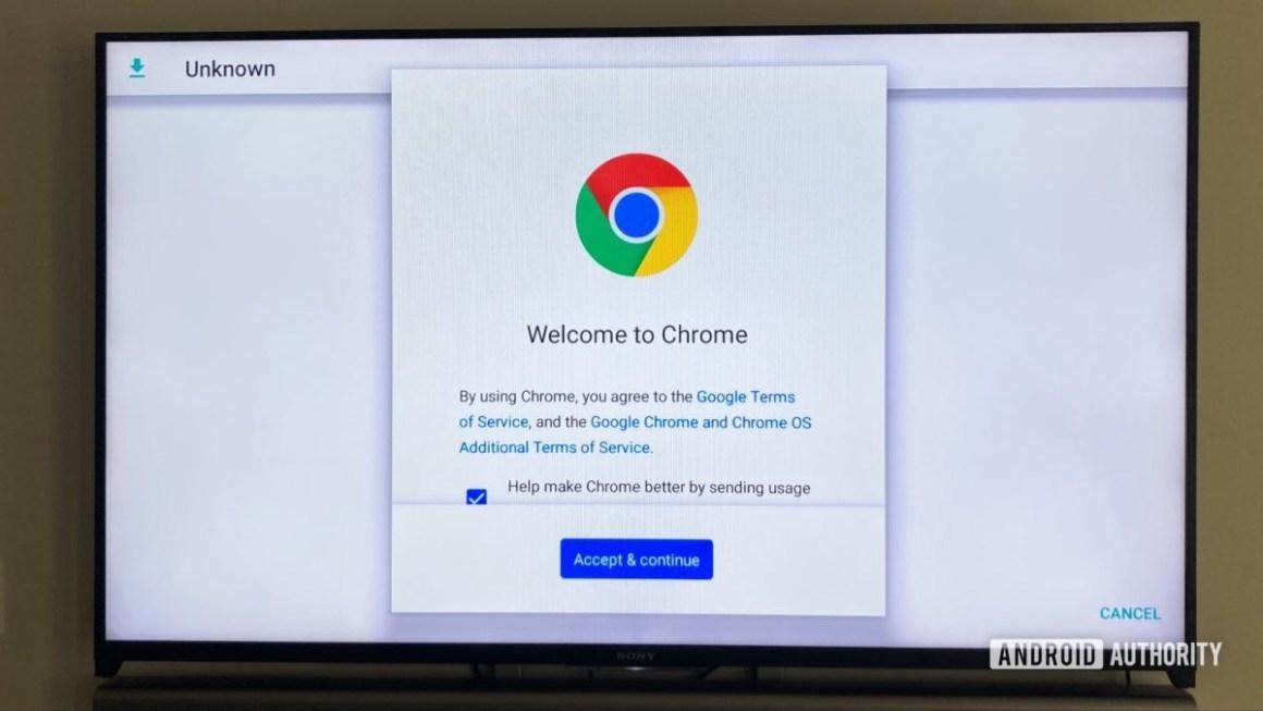 Приложение Google Chrome на Android TV