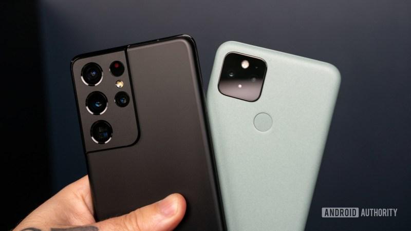 Samsung Galaxy S21 Ultra vs Google Pixel 5 1