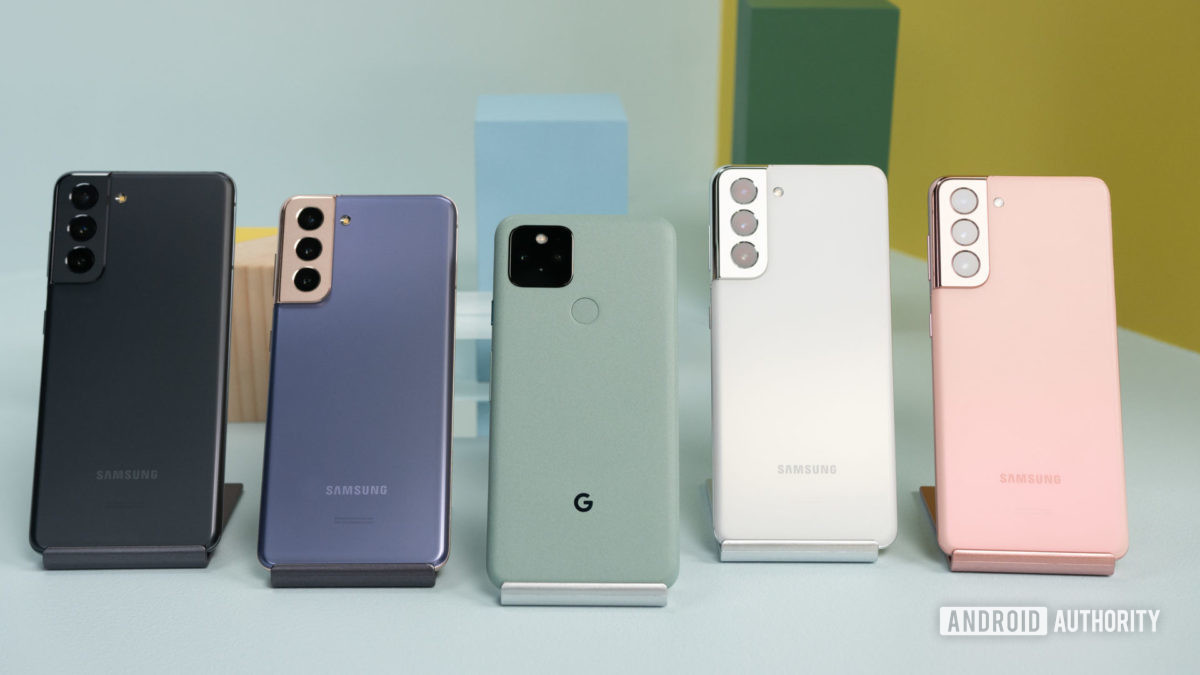 Samsung Galaxy S21 против Google Pixel 5 1