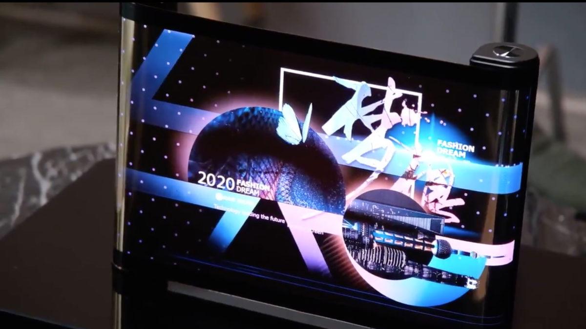 Tela rolável TCL de 17 polegadas CES 2021