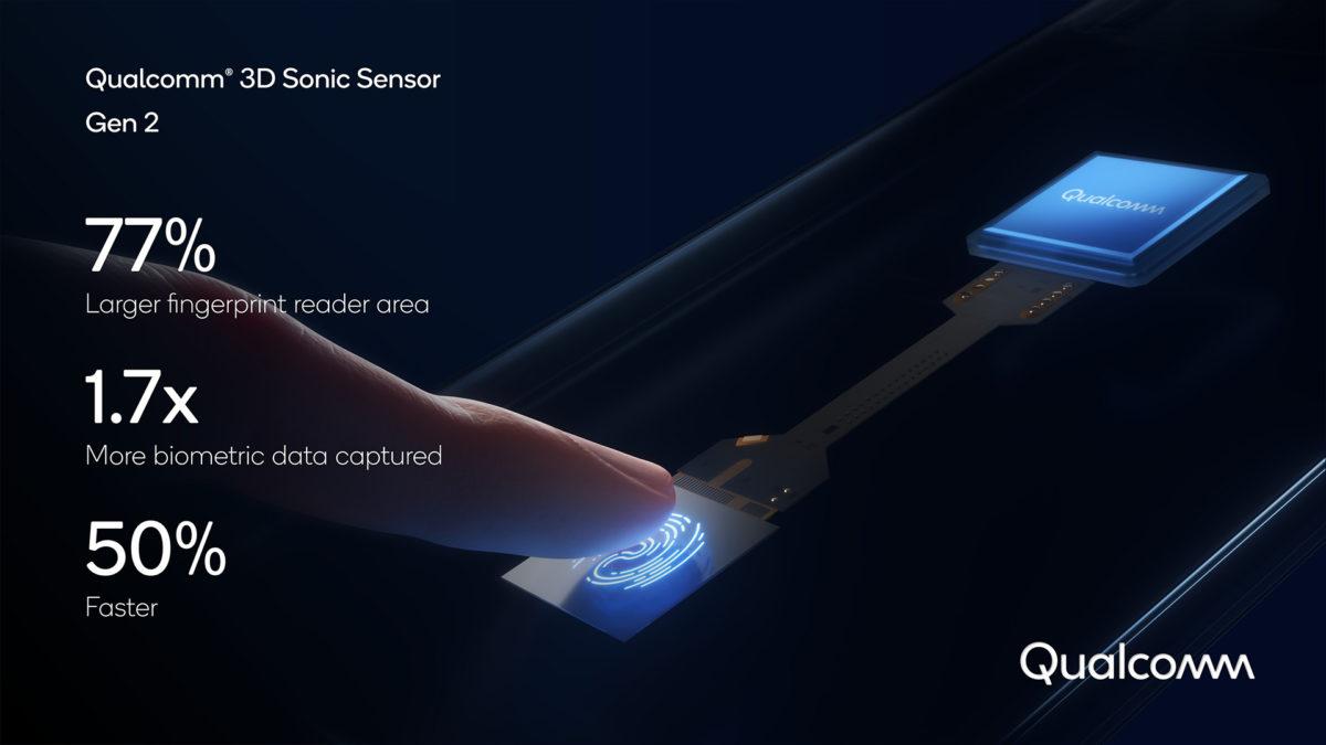 leitor de impressão digital ultrassônico qualcomm 3d sonic sensor gen 2