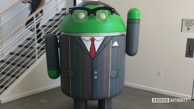 Android statue At Google HQ