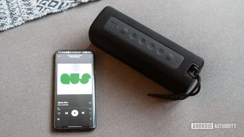 Mi Bluetooth Speaker paired to phone