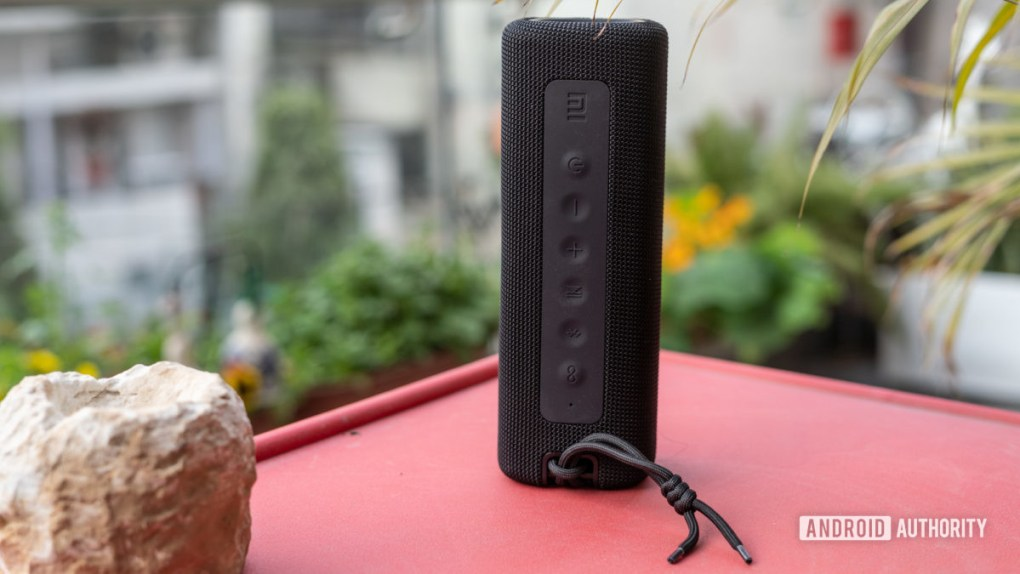 Mi Portable Bluetooth Speaker showing buttons and controls