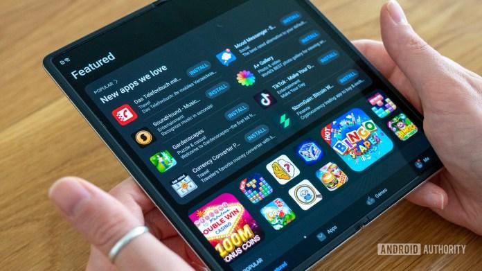 Huawei Mate X2 review Huawei App Gallery open on main internal screen